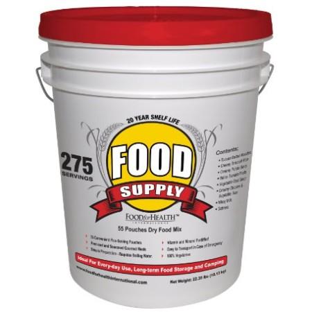 Emergency survival food supply 275 meal pack bags